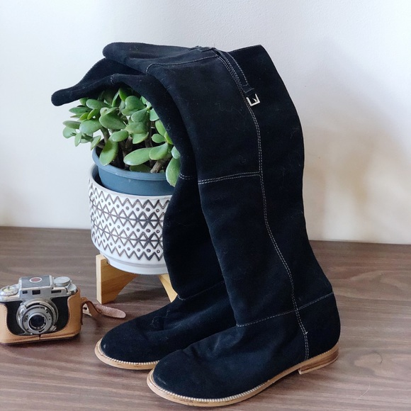 Very Volatile joust black suede over knee boots